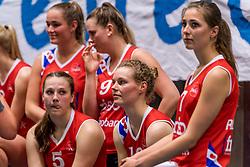 06-05-2017 NED: Finale play off Sliedrecht Sport - VC Sneek, Sliedrecht<br /> Sliedrecht is Nederlands kampioen 2016-2017 / Teleurstelling bij Sneek Paula Boonstra #5 of Sneek, Marit Tromp #14 of Sneek, Paula Boonstra #5 of Sneek, Lieze Braaksma #6 of Sneek, Nienke Tromp #9 of Sneek, Lotte Groninger #7 of Sneek