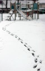 Snowy winter scene Banstead Surrey UK 2005