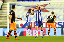 Shaun MacDonald of Wigan Athletic shows a look of dejection after his side miss a chance - Mandatory by-line: Matt McNulty/JMP - 03/02/2017 - FOOTBALL - DW Stadium - Wigan, England - Wigan Athletic v Sheffield Wednesday - Sky Bet Championship