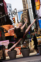 Times Square Dance As Art- The New York City Dance Photography Project featuring ballerina Alyssa Ness
