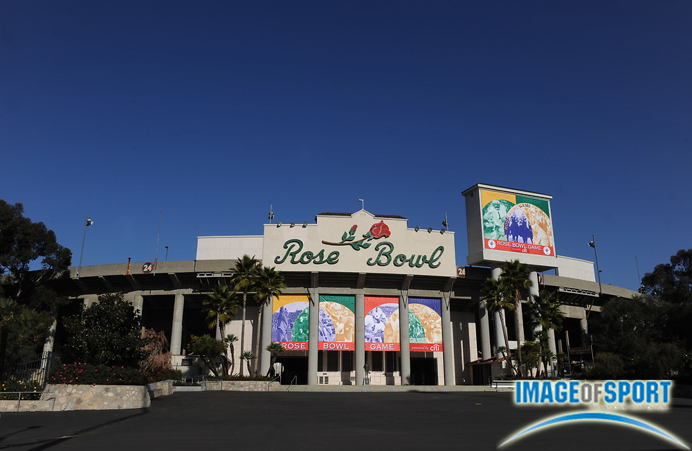 Dec 23, 2009, Pasadena, CA, USA; General view of the exterior of the Rose Bowl, the site of the 2010 BCS national championship game.