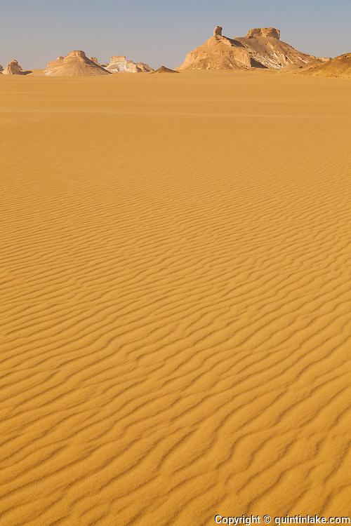 Sand ripples at the edge of the Sahara Beida (White Desert), Egypt