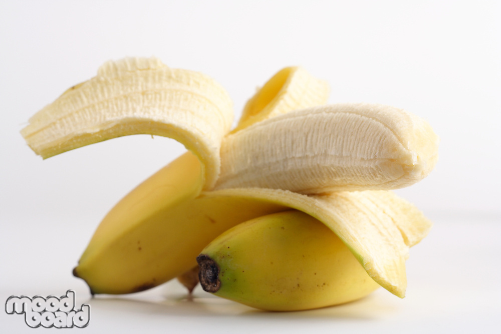 Studio shot of banana on white background