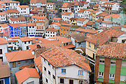 Fishing village of Cudillero in Asturias, Spain RESERVED USE