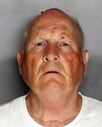 Apr 25, 2018 - Sacramento, California, U.S. - Suspected Serial Killer JOSEPH JAMES DEANGELO, known as 'The Golden State Killer,' is seen in this police booking photo after being apprehended. Sacramento law enforcement leaders announced Wednesday they arrested the man they believe was the East Area Rapist, also known as the Golden State Killer,  who killed and terrorized people in the 1970s and 1980s. (Credit Image: � Sacramento County Sheriff's Department via ZUMA Wire)