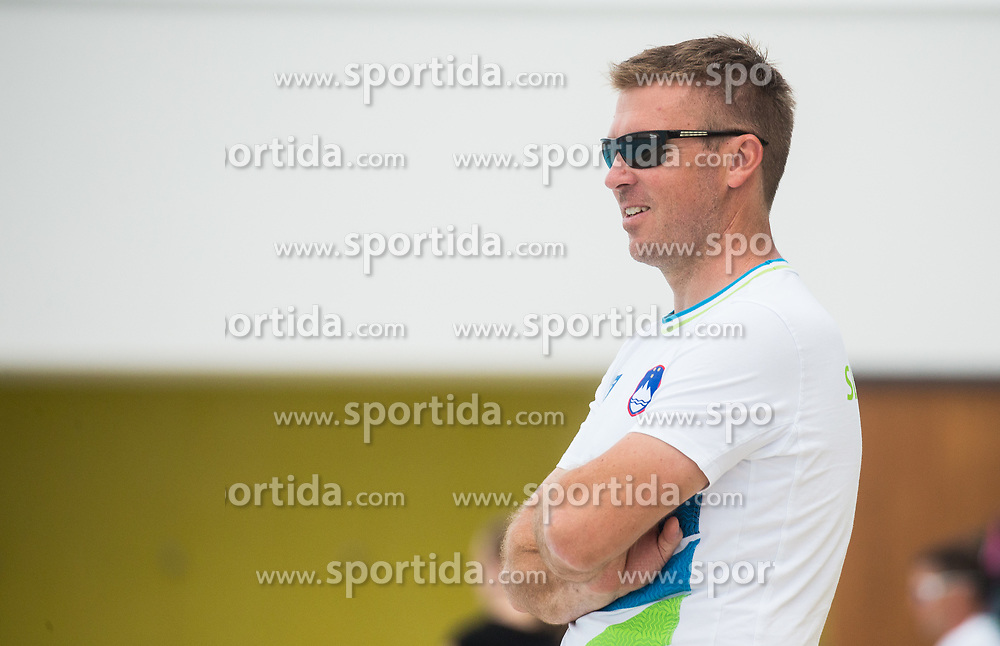 Gorazd Podrzavnik, head coach during practice session of Slovenian Swimming National Team, on June 7, 2017 in Zusterna, Koper / Capodistria, Slovenia. Photo by Vid Ponikvar / Sportida