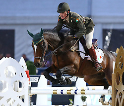 20.09.2014, Magna Racino, Ebreichsdorf, AUT, Vienna Masters 2014, Global Champions Tour Grand Prix, im Bild Capt. Michael Kelly auf Ringwood Glen (IRL) // during Vienna Masters 2014 Global Champions Tour Grand Prix at the Magna Racino, Ebreichsdorf, Austria on 2014/09/20. EXPA Pictures © 2014, PhotoCredit: EXPA/ Thomas Haumer