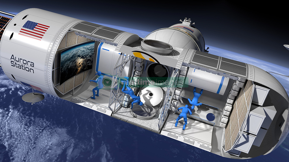 """This is the worlds first-ever luxury space hotel 'Aurora Station' that plans on welcoming guests in 2022. A new space startup called Orion Span unveiled the out-of-this-world destination with hopes to host guests beginning in 2022. Aurora Station is being built in Houston, Texas. The exclusive hotel will host six people at a time – including two crew members. A 12-day stay at Aurora Station will start at $9.5 million — considerably less than the $20-$40 million space tourists paid for trips to the International Space Station from 2001 to 2009. Aboard Aurora Station, travelers will fly freely through the space station in zero gravity. Guests will have the opportunity to participate in research experiments and even livestream via high-speed wireless internet. """"We developed Aurora Station to provide a turnkey destination in space. Upon launch, Aurora Station goes into service immediately, bringing travelers into space quicker and at a lower price point than ever seen before, while still providing an unforgettable experience,"""" said Frank Bunger, chief executive officer and founder of Orion Span. """"Orion Span has additionally taken what was historically a 24-month training regimen to prepare travelers to visit a space station and streamlined it to three months, at a fraction of the cost. Our goal is to make space accessible to all, by continuing to drive greater value at lower cost."""" Accommodations for four paying guests along with two crewmembers complete the initial plans for Aurora Station. But as demand grows Orion Span intends to add to the original Aurora Station core. While the ISS is 357 feet long, Aurora Station will begin at just 43.5 feet long and 14.1 feet wide — roughly the size of a large private jet's cabin. Visitors to Aurora Station will participate in the 3-month training regimen to prepare themselves for the journey and stay in orbit. From online courses to in-person training in Houston, travelers will be prepared through Orion Span As"""