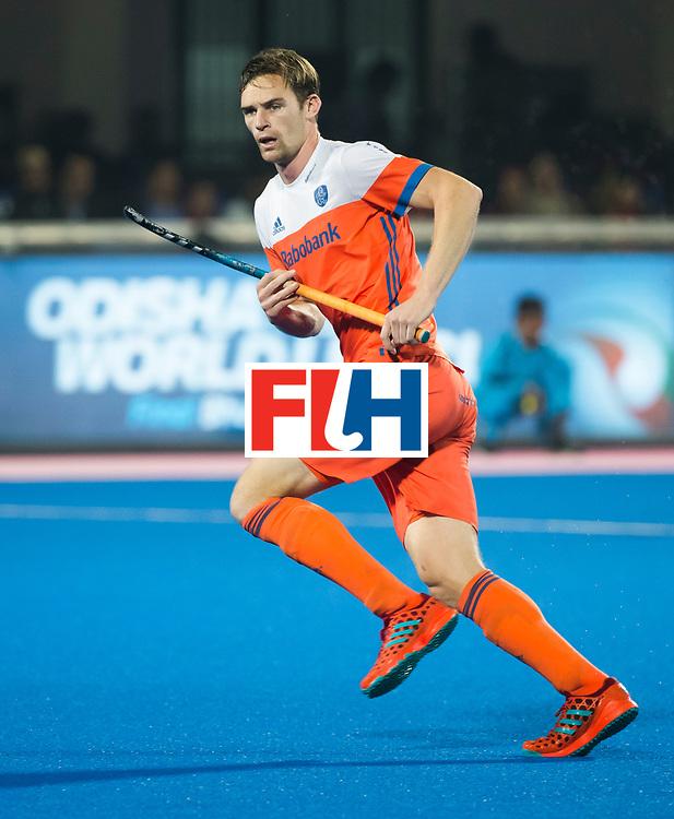 BHUBANESWAR - Mirco Pruyser (Ned) tijdens de Hockey World League Finals , de kwartfinale wedstrijd Duitsland-Nederland (3-3).Duitsland wint na shoot-outs.    COPYRIGHT KOEN SUYK