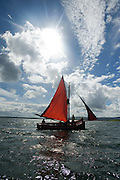 Galwya Hooker during  the Crinniu na mBad (Gathering of the boats) Festival  in Kinvara Co. Galway at the weekend featuring Galway hookers racing across the bay. Photo:Andrew Downes