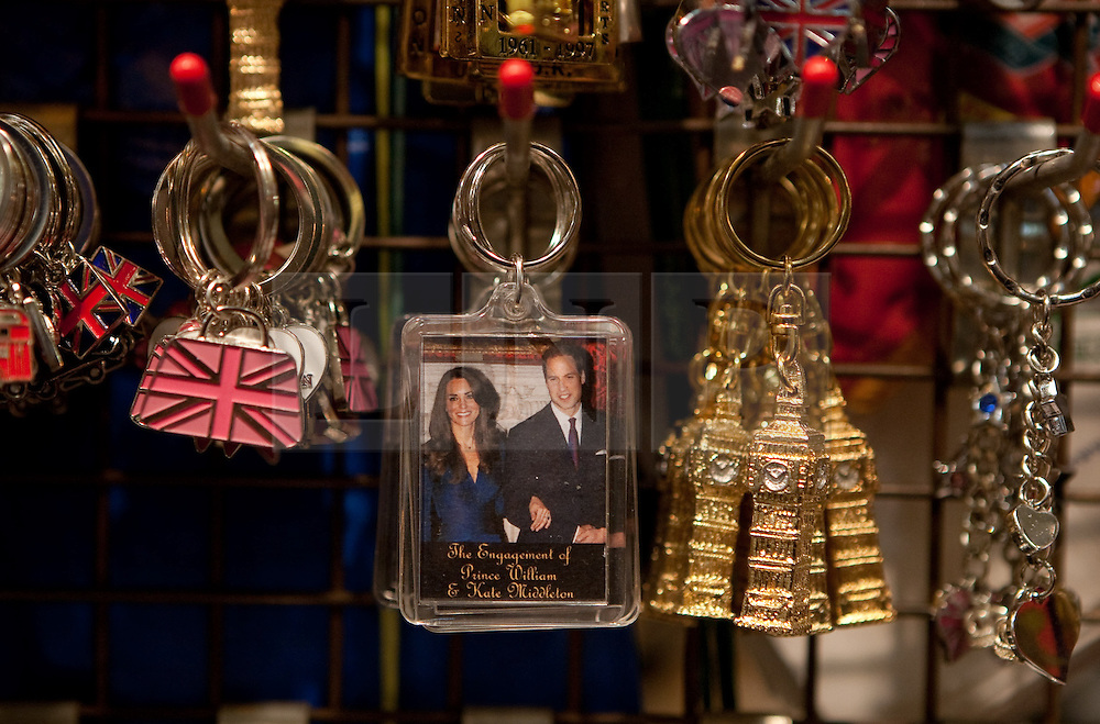 © under license to London News Pictures. 26/01/20011. Royal wedding souvenirs  at Covent Garden market, London, UK,  ahead of the royal wedding of Prince William and Kate Middleton in April 20011. Photo credit should read Fuat Akyuz/LNP..