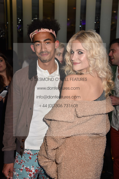 Pixie Lott and Jordan Stephens at the official launch of The Perception at W London, 10 Wardour Street, London England. 7 November 2017.<br /> Photo by Dominic O'Neill/SilverHub 0203 174 1069 sales@silverhubmedia.com