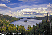 """Emerald Bay 2"" - A photograph of clouds clearing over Emerald Bay, Lake Tahoe"