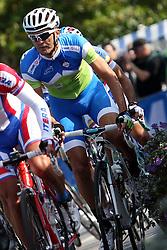 Gorazd Stangelj of Slovenia during the Men's Elite Road Race at the UCI Road World Championships on September 25, 2011 in Copenhagen, Denmark. (Photo by Marjan Kelner / Sportida Photo Agency)