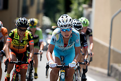 Ingrid Drexel (Astana Women's Team) sets the pace in the break on the final lap at the final stage of the Giro Rosa 2016 on 10th July 2016. A 104km road race starting and finishing in Verbania, Italy.