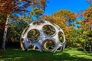 Fly's Eye Dome, 1998 Designed by Buckminster Fuller,  Longhouse Reserve and sculpture garden located in East Hampton, NY