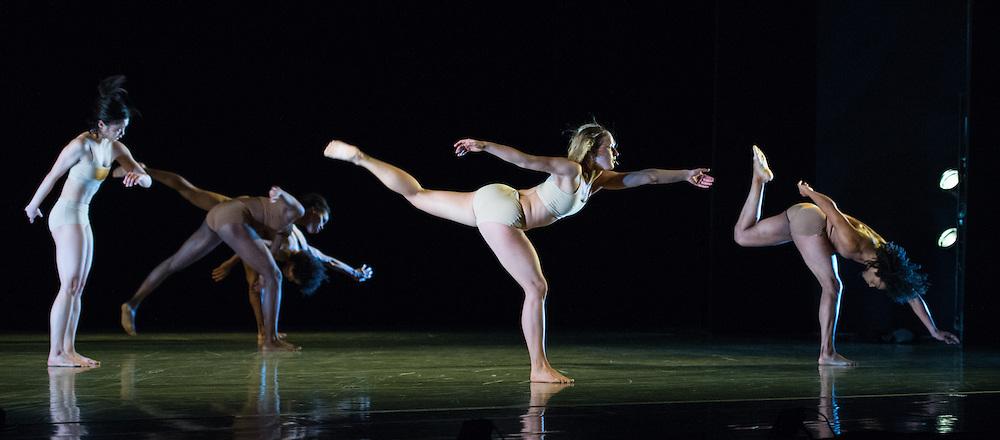 LONDON, UK, 07 November 2016. Hydrargyrum by Patricia Okenwa performed by Rambert Ballet at Sadler's wells.<br /> <br /> Set and Costume Design Jon Bausor<br /> Lighting Design Charles Balfour<br /> <br /> DANCERS <br />                               <br /> <br /> Edit Domoszlai