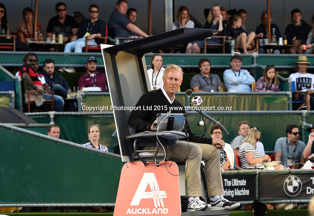 Chair Umpire on Quarter Finals day at the ASB Classic WTA International. ASB Tennis Centre, Auckland, New Zealand. Thursday 8 January 2015. Copyright photo: Andrew Cornaga/www.photosport.co.nz