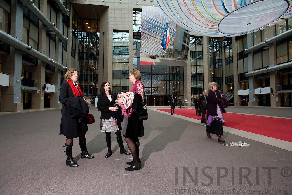 BRUSSELS - BELGIUM - 16 DECEMBER 2008 -- Eva Björklund from EKN with others in Brussels . Photo: Erik Luntang