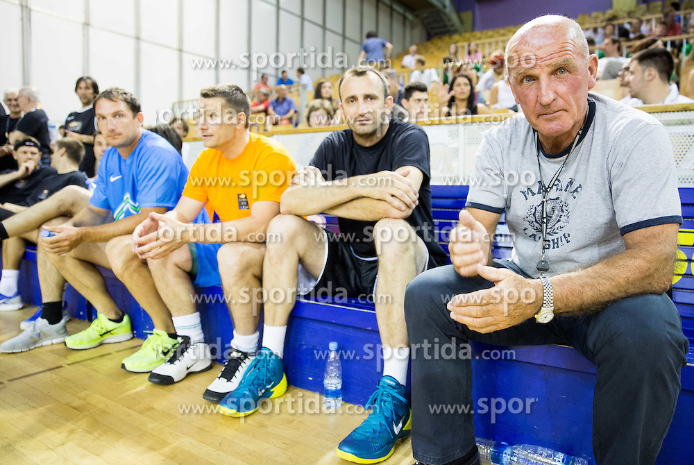 Ivica Jurkovic and Brane Oblak during football and basketball charity event All Legends by Olimpiki, on June 9, 2015 in Hala Tivoli, Ljubljana, Slovenia. Photo by Vid Ponikvar / Sportida