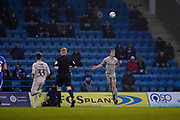 Sean Raggett of Portsmouth in action during the EFL Sky Bet League 1 match between Gillingham and Portsmouth at the MEMS Priestfield Stadium, Gillingham, England on 1 January 2020.