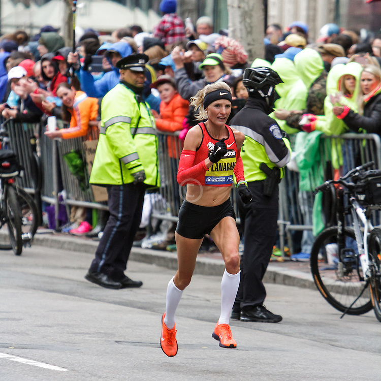Boston Marathon: Shalane Flanagan, USA