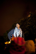 Tunis, Tunisia. January 26th 2011.One of the protesters who spent two nights (in defiance of a curfew) in front of the Prime Minister's office (Mohammed Ghannouchi) on the Kasbah Square. They demand the removal of Mohammed Ghannouchi and members of the ousted president's regime (Zine El Abidine Ben Ali) still in the the government.
