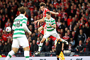 Celtic's Mikael Lustig (23) clears the ball during the Betfred Scottish Cup  Final match between Aberdeen and Celtic at Hampden Park, Glasgow, United Kingdom on 27 November 2016. Photo by Craig Galloway.