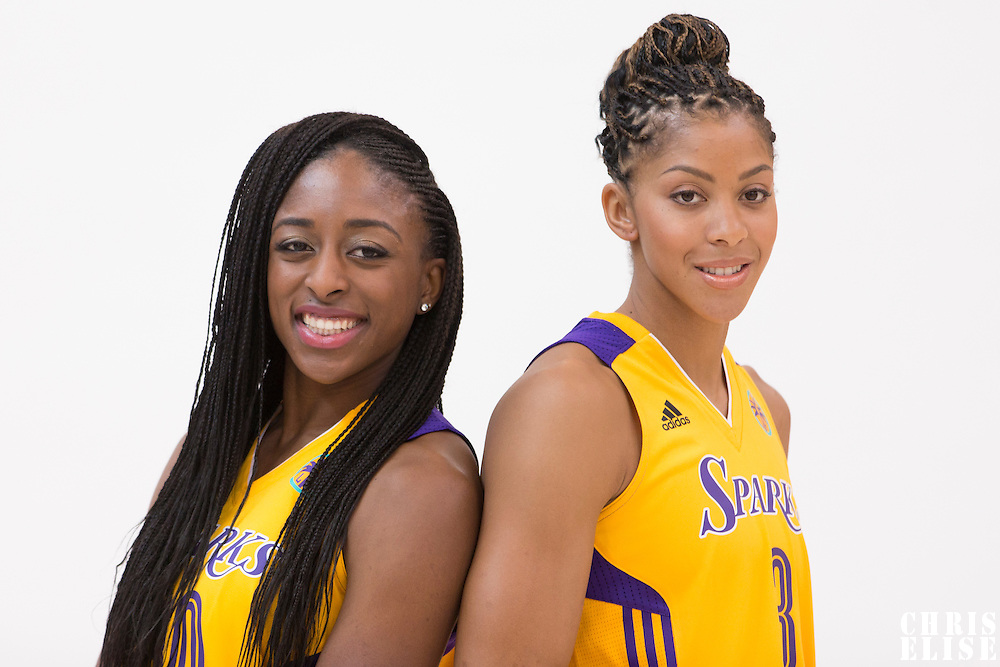 Los Angeles Sparks forward Nneka Ogwumike (30), Los Angeles Sparks forward/center Candace Parker (3)
