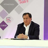 Toluca, México (Mayo 09, 2017).- Alfredo del Mazo, Oscar González y Delfina Gómez, candidatos del PRI, PT y MORENA a la gubernatura del Edo Mex 2017, durante el segundo debate las instalaciones del IEEM. Agencia MVT / Especial IEEM.