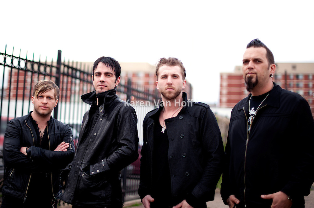 Three Days Grace promotional pictures by Karen Van Hoff