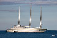 Russian Billionaire Andrey Igorevich Melnichenko's Yacht - Monaco 11 June 2018
