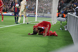 01.05.2013, Camp Nou, Barcelona, ESP, UEFA CL, FC Barcelona vs FC Bayern Muenchen, Halbfinale, Rueckspiel, im Bild Jerome BOATENG #17 (FC Bayern Muenchen) am Boden,  // during the UEFA Champions League 2nd Leg Semifinal Match between Barcelona FC and FC Bayern Munich at the Camp Nou, Barcelona, Spain on 2013/05/01. EXPA Pictures © 2013, PhotoCredit: EXPA/ Eibner/ Christian Kolbert..***** ATTENTION - OUT OF GER *****