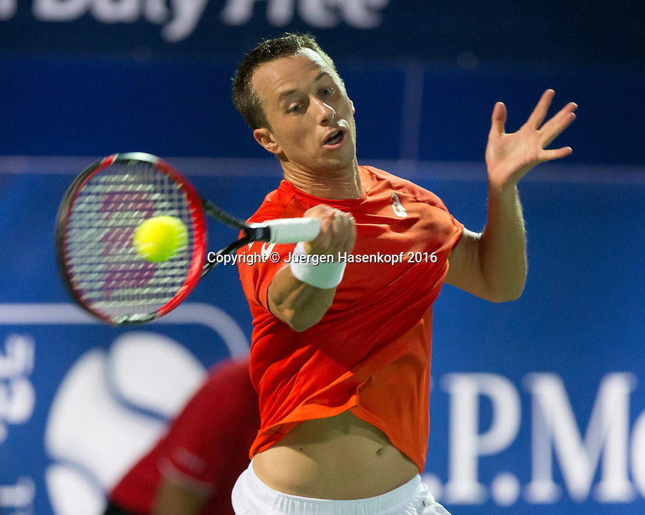 Philipp Kohlschreiber (GER)<br /> <br /> Tennis - Dubai Duty Free Tennis Championships - ATP -   - Dubai -  - United Arab Emirates  - 25 February 2016. <br /> &copy; Juergen Hasenkopf