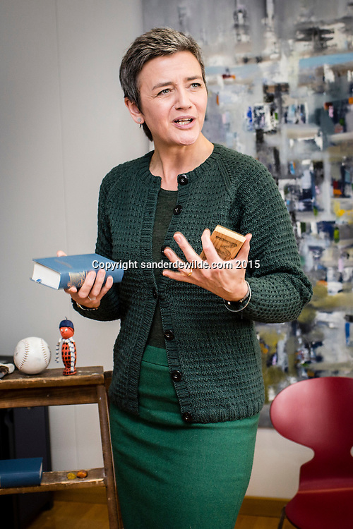 EU competition commissioner Margrethe Vestager photographed during an interview on Google etc. in her  own office in the EC HQ Berlaymont building Brussels on tuesday 17 February 2015 photographer CREDIT: Sander de Wilde for The Wall Street Journal. VESTAGER