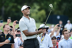 August 10, 2018 - Town And Country, Missouri, U.S - TIGER WOODS from Jupiter Florida, USA  on hole number three during round two of the 100th PGA Championship on Friday, August 10, 2018, held at Bellerive Country Club in Town and Country, MO (Photo credit Richard Ulreich / ZUMA Press) (Credit Image: © Richard Ulreich via ZUMA Wire)