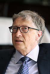 August 2017 - Dar Es Salaam, Tanzania - Bill Gates, American business magnate and philanthropist, responds to a question during an interview. Visiting Tanzania Gates discussed his  vision for Africa's development and announced a 5 million investment that will digitize Tanzania's health information systems to improve health data in the country. (Credit Image: © Ric Francis via ZUMA Wire)