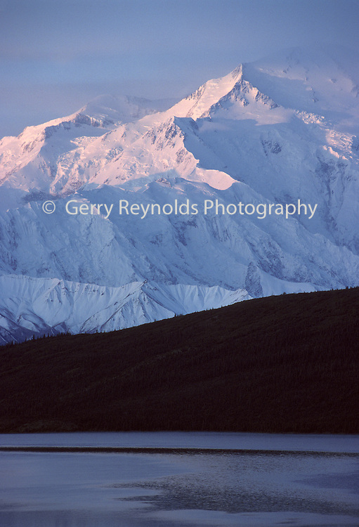 Mount McKinley, Wonder Lake, Sunrise, Reflection, Denali National Park, Alaska