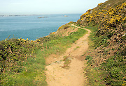 Footpath on the west of the Island of Herm, Channel Islands, Great Britain