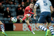 Huddersfield Town midfielder Jack Payne (16) takes a shot during the EFL Sky Bet Championship match between Preston North End and Huddersfield Town at Deepdale, Preston, England on 19 October 2016. Photo by Mark P Doherty.