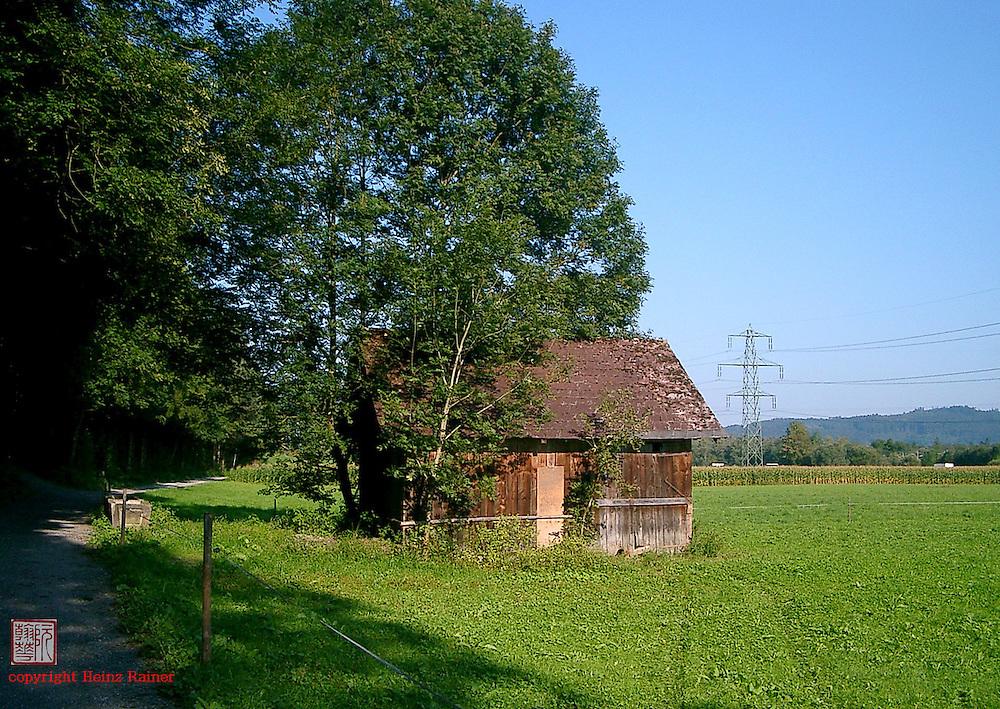 Barn beside meadows, Austria