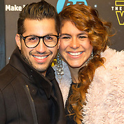 NLD/Amsterdam/20151215 - première van STAR WARS: The Force Awakens!, Jody Bernal en partner Melissa Theba