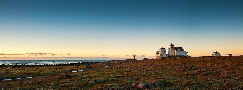 Panorama of Kvassheim fyr (lighthouse), Rogaland, Norway.