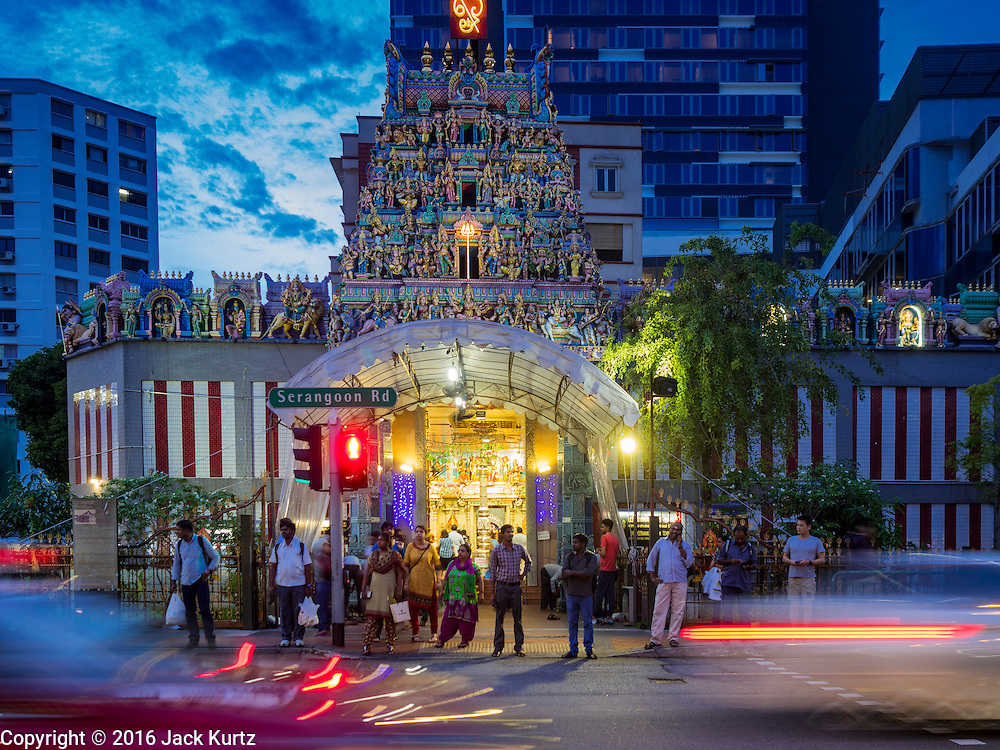 27 DECEMBER 2016 - SINGAPORE:  Sri Veeramakaliamman Temple in Singapore. It is one of the most important Hindu temples in Singapore.      PHOTO BY JACK KURTZ