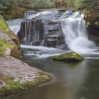 Johnny Mill Shoals waterfall, near Rosman, NC