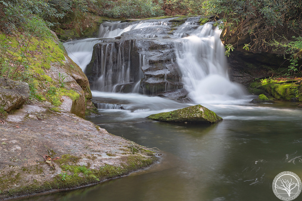 Johnny Mill Shoals waterfall, near Rosman, NC
