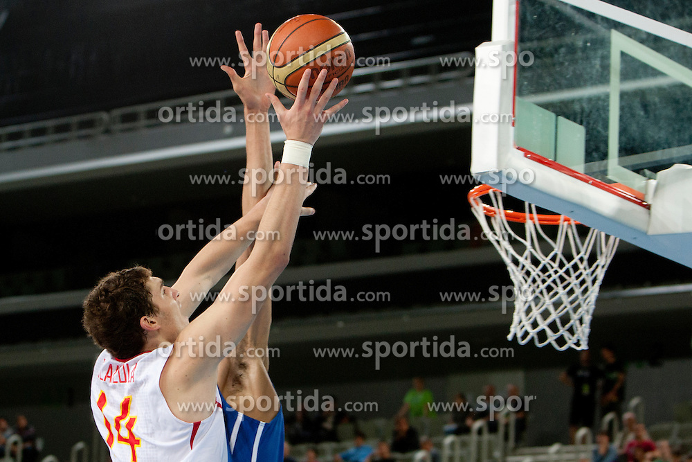 Julen Olaizola of Spain during basketball match between National teams of Spain and France in semifinal of U20 Men European Championship Slovenia 2012, on July 21, 2012 in SRC Stozice, Ljubljana, Slovenia. (Photo by Urban Urbanc / Sportida.com)