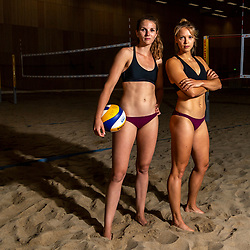 06-07-2018 NED: EC Beach teams Netherlands, The Hague<br /> (L-R) Jolien Sinnema, Laura Bloem