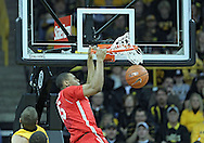 January 07, 2011: Ohio State Buckeyes forward J.D. Weatherspoon (15) dunks the ball during the the NCAA basketball game between the Ohio State Buckeyes and the Iowa Hawkeyes at Carver-Hawkeye Arena in Iowa City, Iowa on Saturday, January 7, 2012.