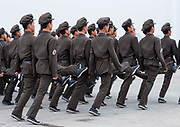ARMY TIME IN NORTH KOREA<br /> The very first order you receive from your guide when arriving in North Korea is NOT to take pictures of the soldiers. This is difficult as you see them everywhere at any occasion, so the temptation is high&nbsp;!<br /> <br /> Their uniforms seem to come from the 50s. and it is&nbsp;! The Korean People&rsquo;s Army was created in 1948 in the Soviet occupation zone of Korea. So, the uniforms were copied from the USSR.<br /> <br /> You will see soldiers in the morning, in the main squares of Pyongyang, when  soldiers rehearse their parade for hours. They do not like to have witnesses as everything is not -yet- perfect but have no choice as they need huge spaces to train. Each soldier has a number to allow the officers to tell who is good and who is bad.<br /> <br /> You will see them in the countryside when you leave the big towns. <br /> Many soldiers are used as a labor force to compensate for the ineffective North Korean economy, so the army is not only about military organization.<br /> During my 6 trips in North Korea, i saw so many soldiers collecting wood and carrying it along the roads. Wood for heating and for eating. North Korean soldiers can be seen working in fields, farms, or on construction sites in many places, far from military exercises.<br /> <br /> You will see them in pictures when visiting the school or the universities&nbsp;: at the entrance, some letters are displayed on the walls, showing the picture of a young man in uniform above a short text. They are letters from former school students that joined the army and who tell about their lifes as  soldiers. Of course everything is fantastic and they write they are so proud to serve their nation.<br /> <br /> In North Korea, most of the soldiers serve in military for 10 years, female soldiers serve  for seven years. Some high level students only serve few years to work quickly and to be more efficient than when they carry wood&hellip;<br /> Once in the army, the contacts with the families is very complicated as the whole country is not covered with mobile phones. A lette